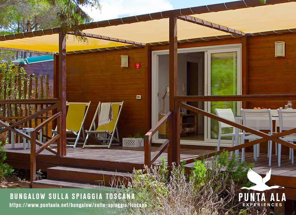 bungalow sulla spiaggia toscana